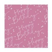 Pink Happy Birthday Roll Wrap - 2m